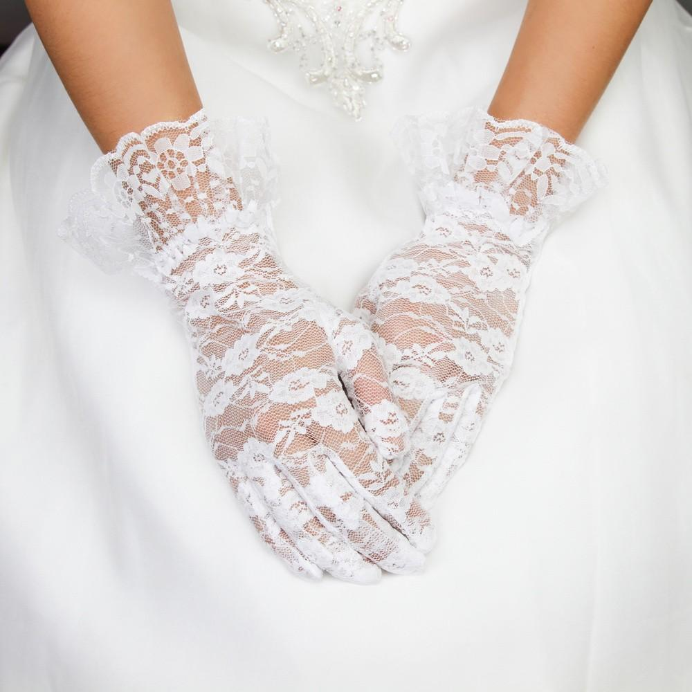 Vintage Style Gloves- Long, Wrist, Evening, Day, Leather, Lace Vintage Style Lace Wrist Gloves in White $24.00 AT vintagedancer.com
