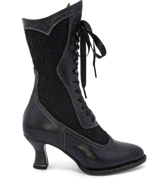 Victorian Boots & Shoes – Granny Boots & Shoes Abigale Victorian Inspired Leather  Lace Boots in Black $235.00 AT vintagedancer.com