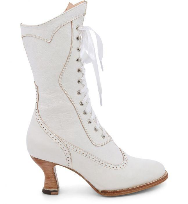 1920s Style Shoes, Heels, Boots Modern Victorian Lace Up Leather Boots in Nectar Rustic $285.00 AT vintagedancer.com