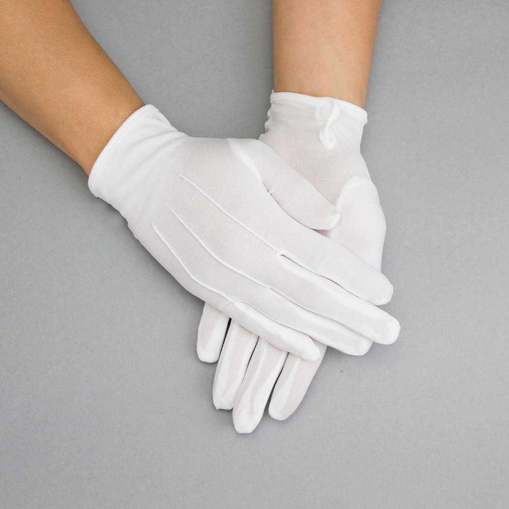 Vintage Gloves History- 1900, 1910, 1920, 1930 1940, 1950, 1960 Penelope Gloves in White $15.00 AT vintagedancer.com