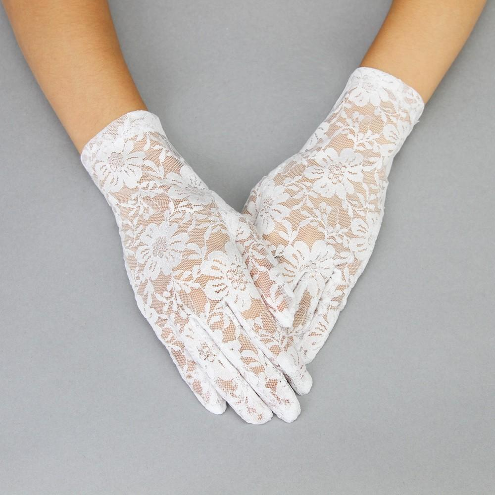 Vintage Style Gloves- Long, Wrist, Evening, Day, Leather, Lace Graceful in Lace Lady Mary Gloves in White $24.00 AT vintagedancer.com