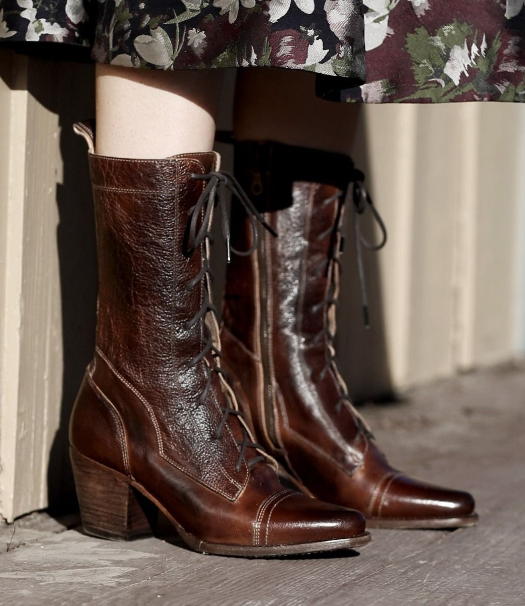 Victorian Boots & Shoes – Granny Boots & Shoes Baisley Modern Vintage Boots in Teak $275.00 AT vintagedancer.com
