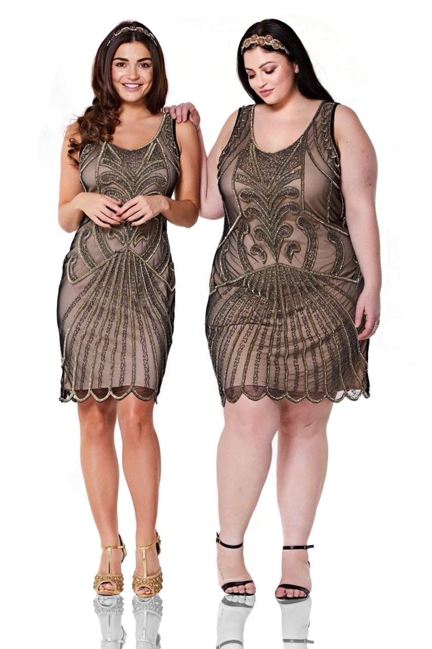 1920s Plus Size Flapper Dresses, Gatsby Dresses, Flapper Costumes  $135.00 AT vintagedancer.com