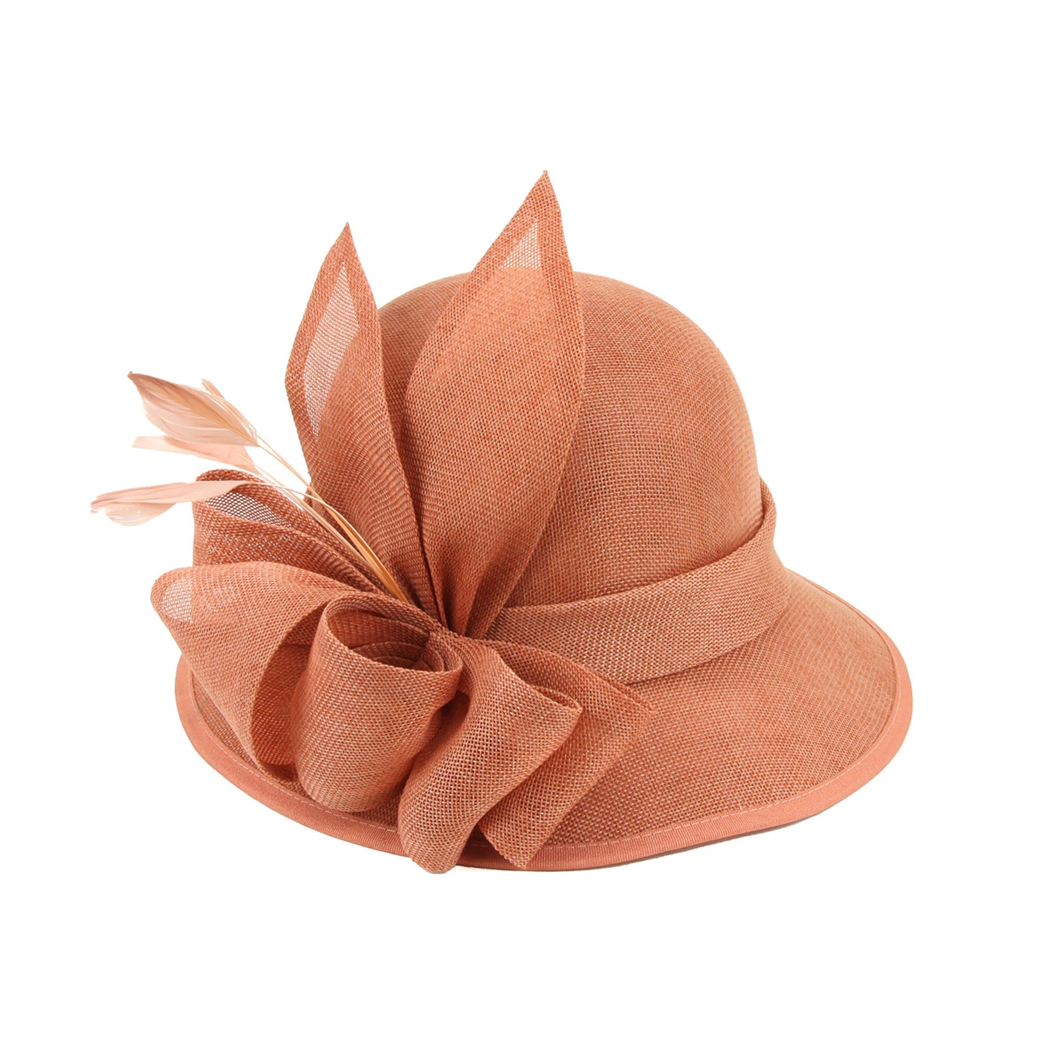 1920s Style Hats 1920s Flapper Style Hat in Coral $50.00 AT vintagedancer.com