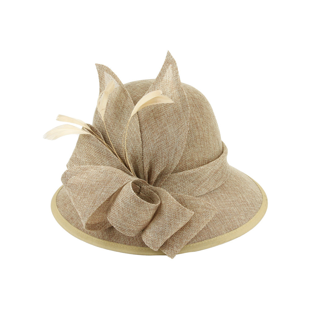 1920s Accessories: Feather Boas, Cigarette Holders, Flasks 1920s Flapper Style Hat in Beige $50.00 AT vintagedancer.com