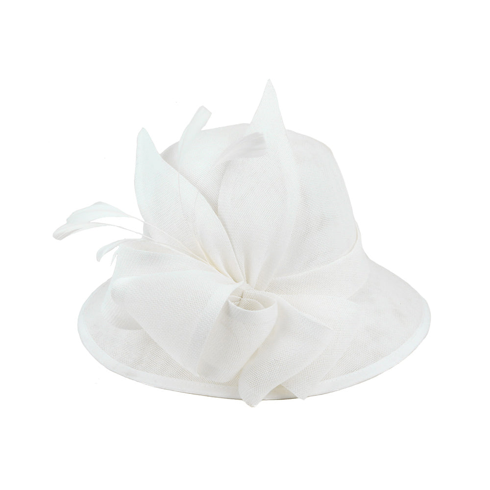 Tea Party Hats – Victorian to 1950s 1920s Flapper Style Hat in White $50.00 AT vintagedancer.com