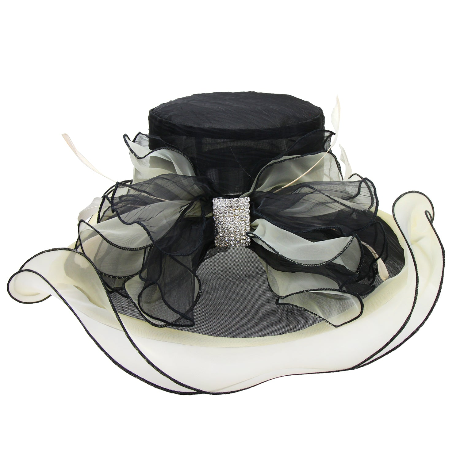 Tea Party Hats – Victorian to 1950s 1920s Elegance Hat in Black $50.00 AT vintagedancer.com