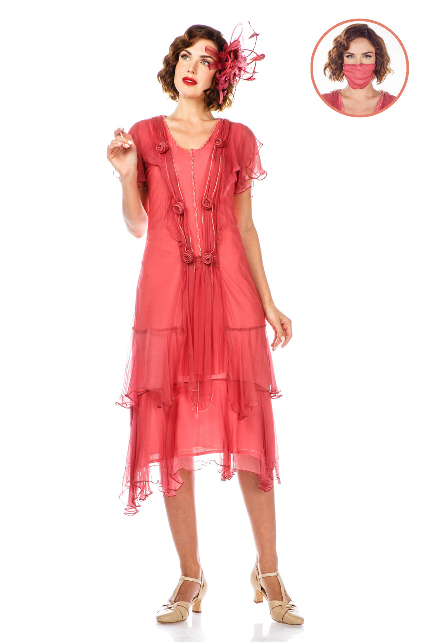 Authentic 1920s Makeup Tutorial 1920s Style Dress 40833 in Rose by Nataya $225.00 AT vintagedancer.com