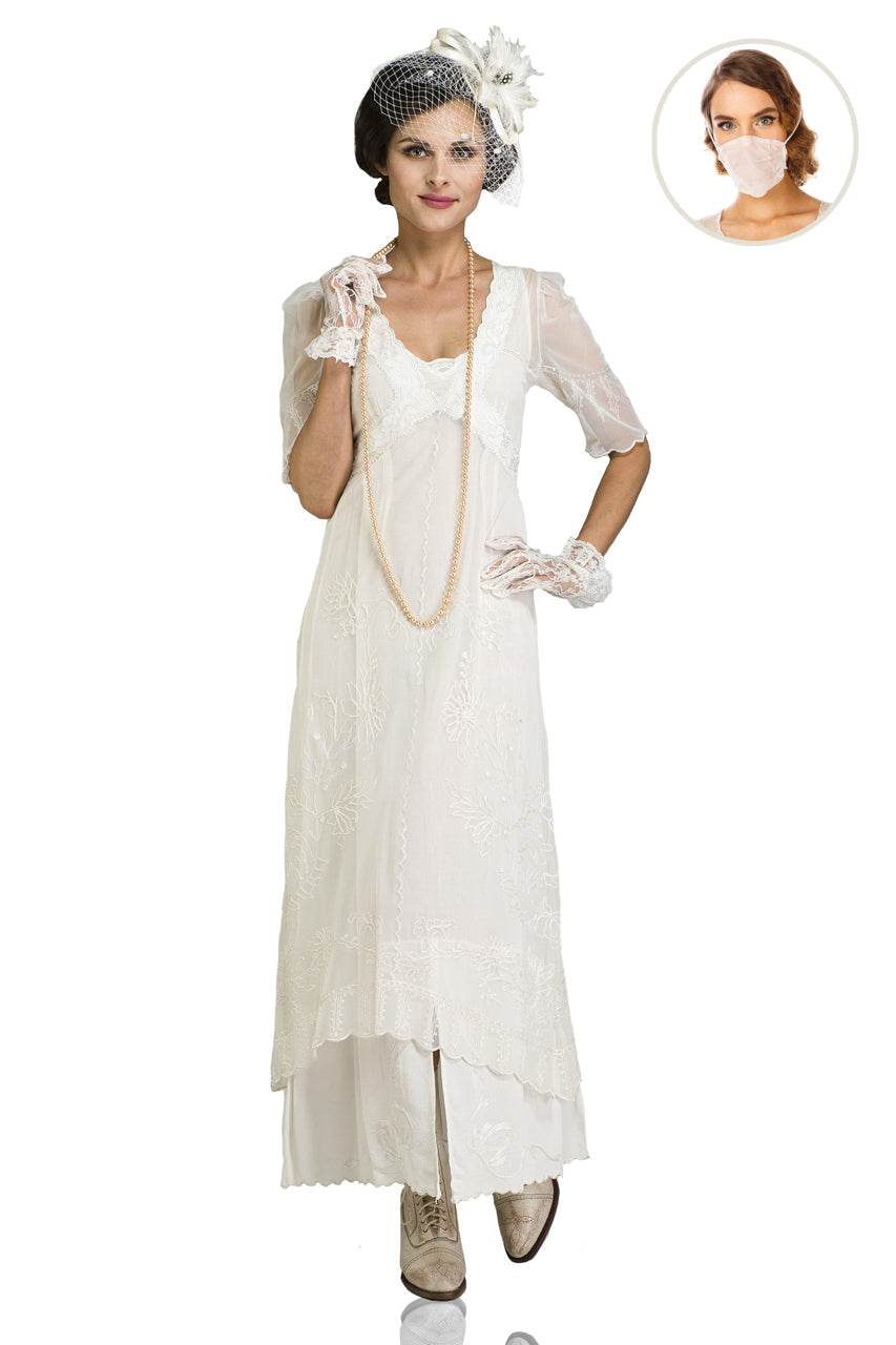 Victorian Wedding Dresses, Shoes, Accessories New Vintage Titanic Tea Party Dress in Ivory by Nataya $228.00 AT vintagedancer.com