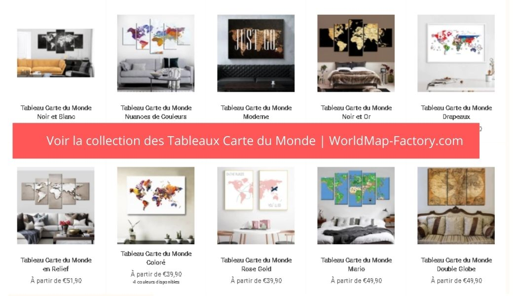 Collection Tableaux Carte du Monde