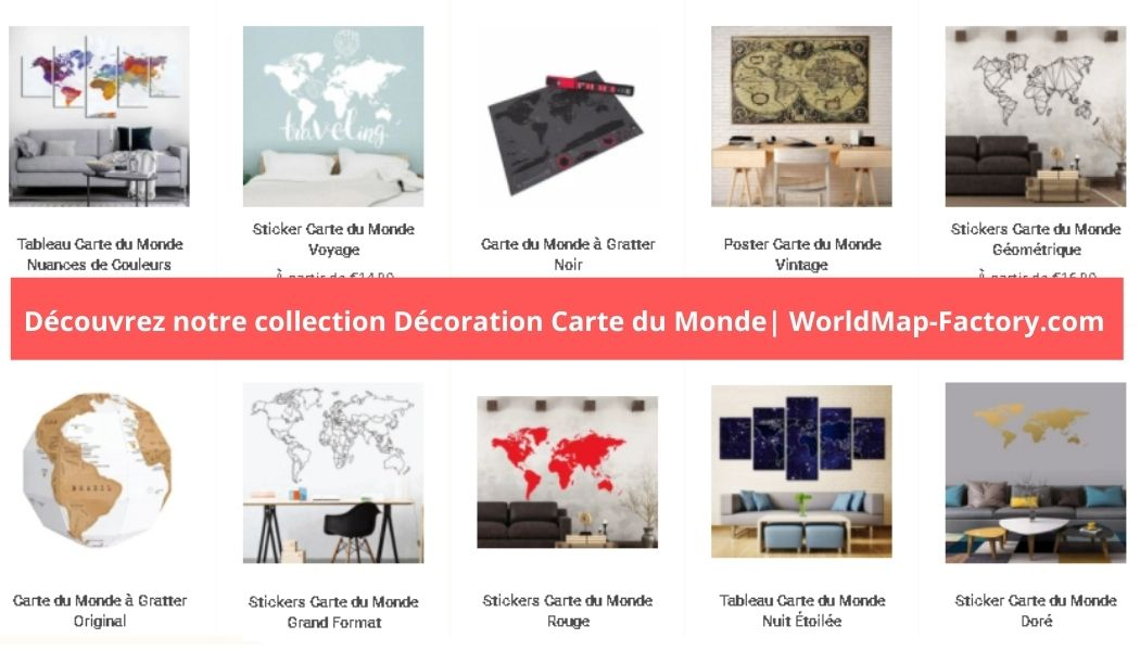 Décoration Carte du Monde