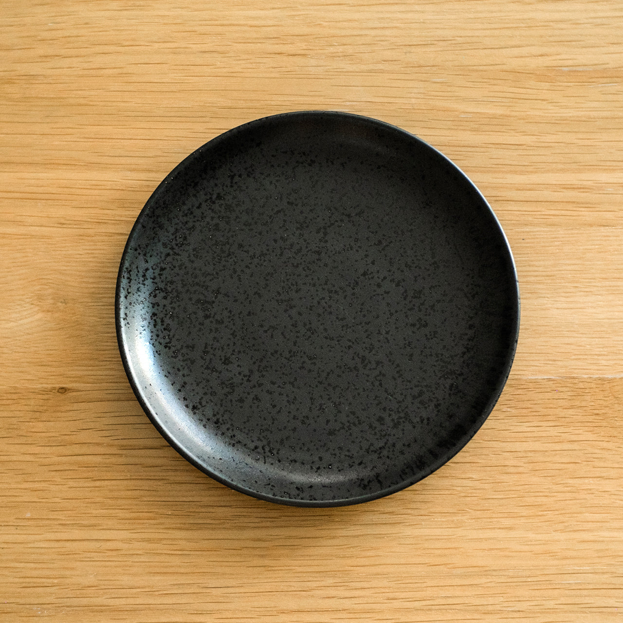 Midnight Black Porcelain Round Serving Plate