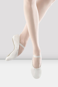 Dansoft Adult Full Sole White Leather Ballet Shoe