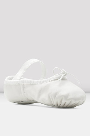 Dansoft Girls Full Sole White Leather Ballet Shoe