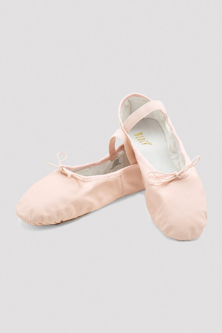Dansoft Girls Full Sole Pink Leather Ballet Shoe