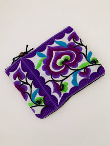 Hand Embroidered Coin Purse