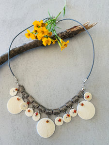 Shell and Czech Glass Beads Necklace