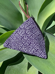 Indigo Triangle Cotton Coin Purse