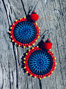 Hmong Embroidered  Earrings