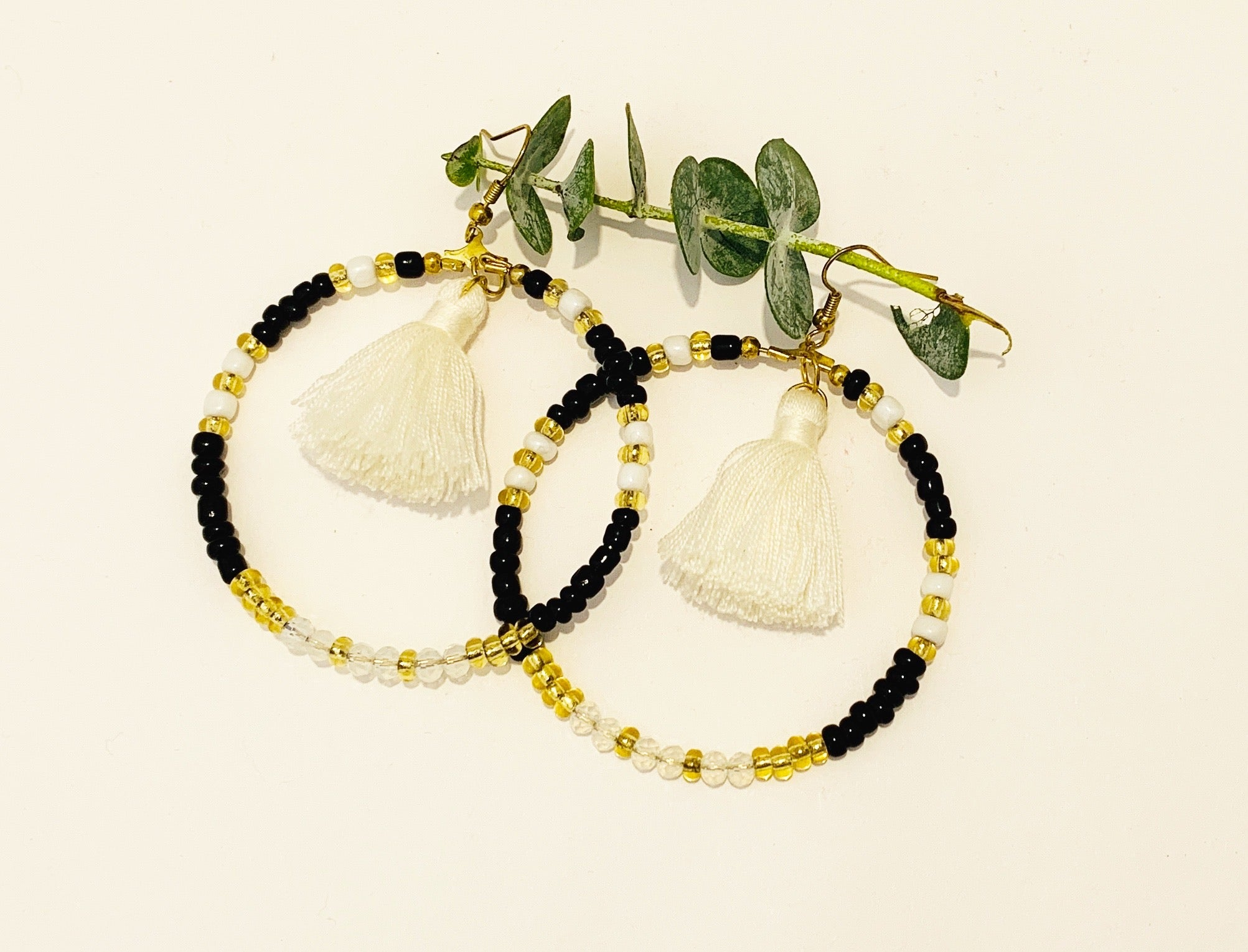Hoop and Tassel Earrings  - Pikay Collection