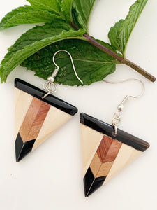 Teak Wood Earrings  - Mr Teak Collection