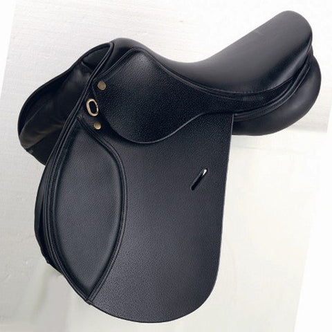 "James Sterling Puissance Saddle Black 17"" - Equeto"