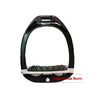 Flex-On Junior Inclined Ultra Grip Stirrup - Black/Grey