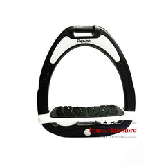 Flex-On Junior Inclined Ultra Grip Stirrups - Black/White