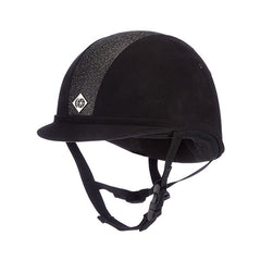 Charles Owen YR8 Sparkly Riding Hat - Black/Black