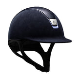 Samshield Premium Top Leather Blue Chrome Riding Hat - Equeto