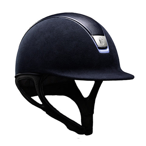 Samshield Premium Top Leather Blue Chrome Riding Hat