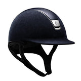 Samshield Premium Top Leather Navy Chrome Riding Hat - Equeto