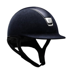 Samshield Premium Top Leather Navy Chrome Riding Hat