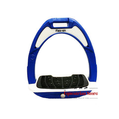 Flex-On Junior Inclined Ultra Grip Stirrups - Blue/White