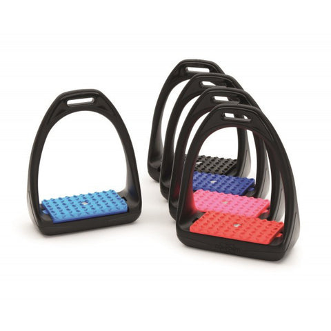 HyJump Compositi Reflex Stirrups With Coloured Treads - Equeto