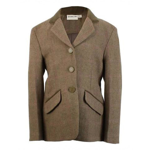 Dublin Ladies Wolverton Tweed Riding Jacket - Equeto  - 1