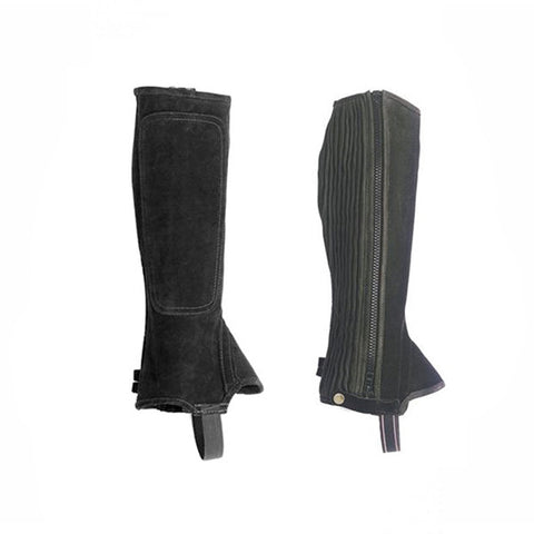 Equisential Suede Half Chaps - Adult/Child