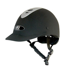 F1 Gatehouse Black Silver Riding Hat
