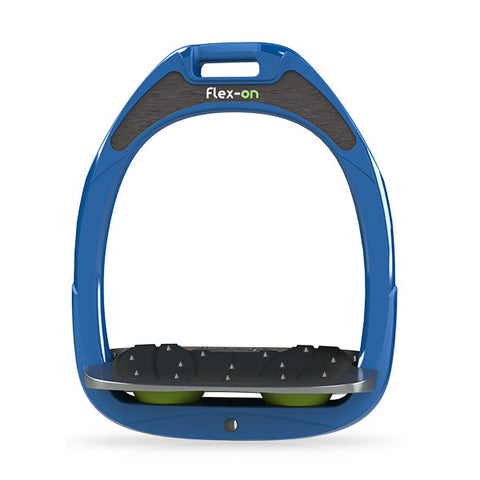 Flex-On Inclined Ultra Grip Stirrup - Blue/Green