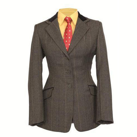 Shires Ladies Huntingdon Green Check Jacket - Equeto  - 1