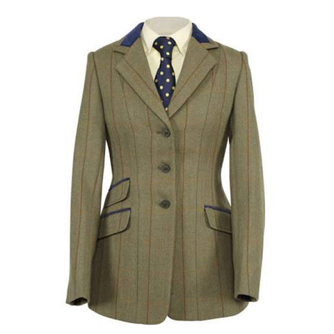 Shires Ladies Huntingdon Green Copper Check Jacket - Equeto