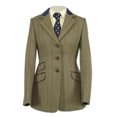 Shires Ladies Huntingdon Green Copper Check Jacket