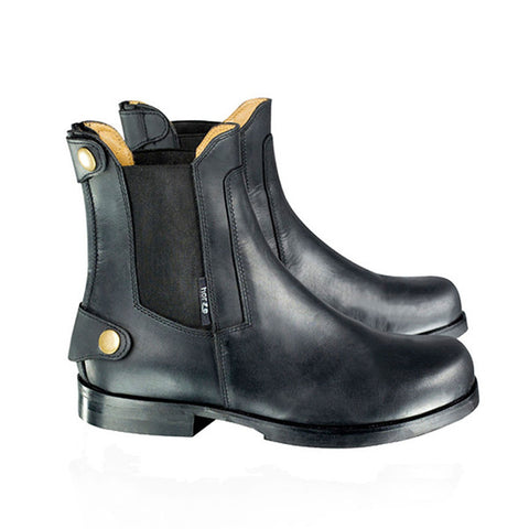 Horze Unisex Black Back Zip Leather Lined Jodhpur Boots - Equeto  - 1