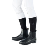 Horze Unisex Black Back Zip Leather Lined Jodhpur Boots - Equeto  - 2