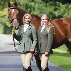 Shires Ladies Huntingdon Green Check Jacket