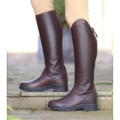 Shires Unisex Moreton Long Leather Riding Boot - Brown - Equeto