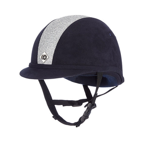 Charles Owen YR8 Sparkly Riding Hat - Navy/Silver