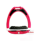 Flex-On Junior Inclined Ultra Grip Stirrups - Pink/Grey - Equeto