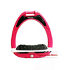 Flex-On Junior Inclined Ultra Grip Stirrups - Pink/Grey