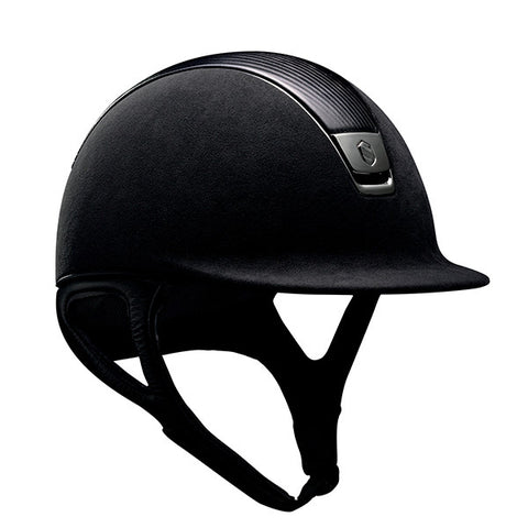 Samshield Premium Top Leather Black Chrome Riding Hat